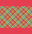 madras diagonal plaid pixeled seamless background vector image vector image