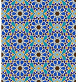 mosaic arabic seamless pattern with geometric vector image vector image