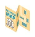 Museum map icon isometric 3d style vector image vector image
