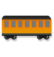 old passenger wagon icon cartoon style vector image