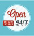 open banner typographic design vector image vector image