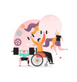 paralympic games concept for web banner vector image