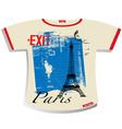 paris t shirt vector image vector image