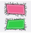 pixel art design of banners vector image vector image