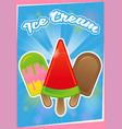 poster ice cream vector image vector image