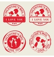 Print c silhouette couple in love vector image