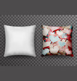 realistic 3d soft pillow sleep transparent vector image