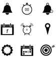 reminders icon set vector image vector image