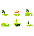 Rolling hills icons vector | Price: 1 Credit (USD $1)