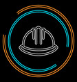 safety helmet icon - construction icon vector image