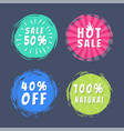 sale 50 best choice special offer promo stickers vector image
