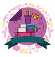 school supplies teacher day vector image vector image