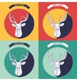 set christmas background with deer vector image