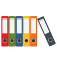 set of colored ring binders vector image vector image
