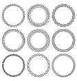 set of handmade round frames vector image vector image