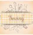 sewing paper card vector image vector image