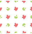simple beautiful hand-drawn flowers vector image vector image