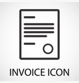 simple invoice icon vector image