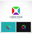 square colorful geometry logo vector image vector image