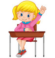 student sit on chair vector image vector image