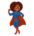 super hero woman cartoon character vector image