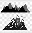 the mountains and the silhouettes of birds vector image