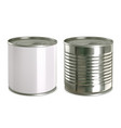 tin can mock up 3d realistic icon set vector image