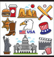 usa america culture and american travel landmarks vector image vector image