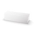 White wrap package for new design on white vector image vector image