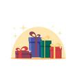 flat gift boxes surprise celebration event set vector image
