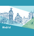 madrid capital of spain vector image