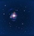 Night starry sky vector image