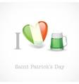 St Patricks Day I Love Beer vector image