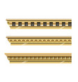 set of classical gold cornices vector image