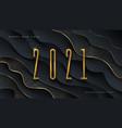 2021 new year logo greeting design vector image vector image