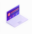 3d isometric laptop flat design vector image