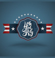 4th july lettering for independence day vector image