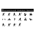 A Set of 16 Discontinued Summer Sport Icons vector image vector image