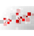 abstract futuristic technology red grey background vector image vector image
