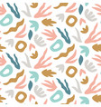 abstract seamless pattern trendy print with hand vector image