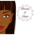 attractive woman with dark skin beautiful african vector image