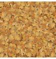 autumn oak leaves background vector image vector image