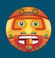 Aztec calendar sun god
