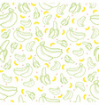 banana fruit seamless summer pattern background vector image