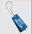 best seller price tag in blue color 01 vector image