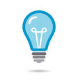 blue bulb icon isolated on white background vector image