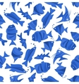 Blue fishes seamless decoration background vector image vector image