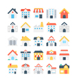 Building Colored Icons 1 vector image vector image