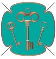 bunch of keys metal chrome decorative unlock steel vector image vector image