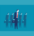 businessman leadership standing vector image vector image